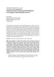 referal letters pdf a letter of consequence referral letters from general