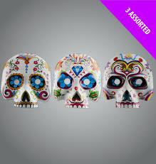 Design A Sugar Skull Online Set Of 3 Assorted Halloween Day Of The Dead Sugar Skull Design Masks