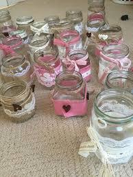 Decorating Jam Jars For Wedding Job Lot Of Rustic Vintage Decorated Jam Jars Wedding Centre Pieces 50