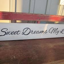 sweet dreams my love wood sign hand painted nursery art hom