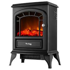 details about aspen free standing electric fireplace stove 22 inch black