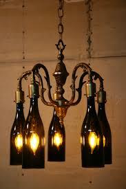 popular of wine bottles chandelier with top 47 beautiful stylish wine bottle light fixture chandelier indoor