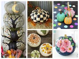 pumpkin painting ideas best no carve pumpkins for you