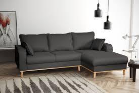 Sofa Couch Ecksofa Eckcouch Wohnlandschaft In Gewebestoff Braun Grau R