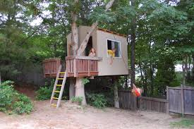 easy treehouse designs for kids. Decorations:Delighftul Simple Treehouse Designs For Kidswith Pallet Wooden Fence And Neutral Green Tree Forest Easy Kids