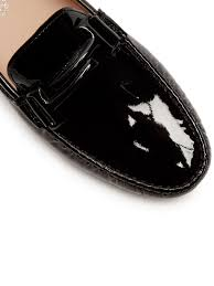 tod s gommini t bar patent leather loafers womens flats
