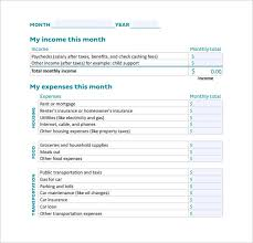 Budget Salary Calculator Sample Monthly Budget Calculator 9 Free Documents In Pdf
