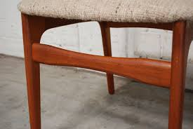mid century danish teak and wool dining chairs from schiønning elgaard 1960s set of 4 at pamono