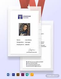 Identification Card Samples Law Firm Identity Card Template Word Psd Indesign
