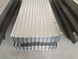 there are two piles of galvanized corrugated roofing sheets they all have eleven corrugations