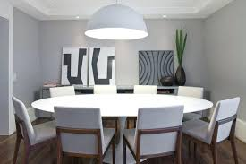 modern round dining set for 6 large round white dining tables upholstered chairs laminate floor modern
