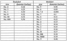 Buckshot Chart 90 Best Ammunition Images Guns Ammo Guns Firearms