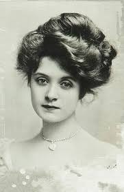 Decorative vintage woman with beautiful hair