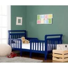 blue nursery furniture. 3-in-1 Convertible Toddler Bed Children New Rails Safety Frame Blue Nursery Furniture R