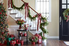Adding Fresh Garland Your Stairway Banister Creates Elegant