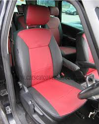 ford galaxy 3rd gen black red leatherette seat covers