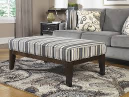 chic upholstered ottoman coffee table for living room stripes fabric upholstered ottoman coffee table and