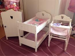 Baby Born Bett Aus Holz Innerhalb Kleiderschrank Avec Within