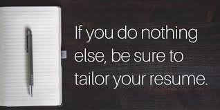 tailor a resume