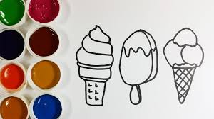Drawing Ice Cream For Kids Coloring Pages Ice Cream With Nursery