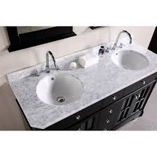 bathroom sink tops. White Granite Top Vanity With Round Deep Porcelain Sinks And Stainless Steel Faucets Bathroom Sink Tops