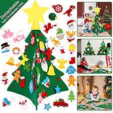 OurWarm DIY Felt Christmas Tree with Hanging ... - Amazon.com