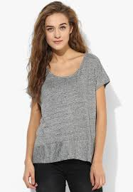 grey solid t shirt