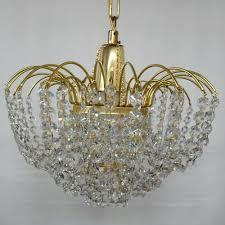 Vintage Kristall Leuchter Gebraucht 1 X E27 Fassung Mit