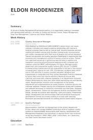 Quality Assurance Manager Resume Samples Visualcv Resume Samples