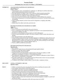 resume technician maintenance building maintenance technician resume samples velvet jobs