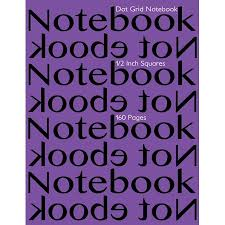 Dot Grid Notebook 1 2 Inch Squares 160 Pages Notebook Not Ebook
