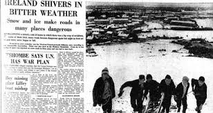 Winter 1963 Weather Charts Snowstorms Through The Centuries A History Of Irish Cold Snaps
