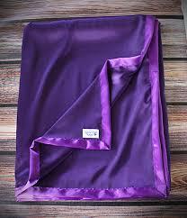 satin blanket silk blanket purple blanket purple satin