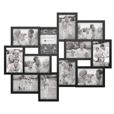 lavish home 12 opening 4 in x 6 in black picture frame collage