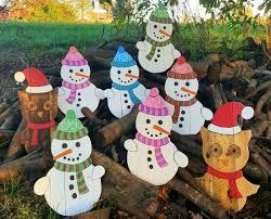 image 0 Pallet snowman Outdoor Christmas decor | Etsy