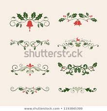 Set Decorative Christmas Designs Cards Vector Stock Vector Royalty