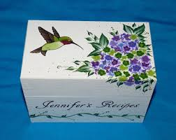 Decorative Recipe Box 100 best Hand Painted Recipe Boxes images on Pinterest Recipe 5