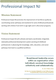 nj administrators credential guide for administrators and vision statement professional impact nj will cultivate and lead a coordinated integrated statewide professional