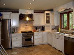 White Tile Floor Kitchen Inspiration Idea Kitchen Flooring Ideas With White Cabinets White