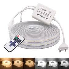220V 110V LED Dẻo Băng 2835 120 Đèn LED/M Dây Đèn LED Với Ánh Sáng Đèn Mờ  Chống Nước Nơ Sọc đèn Trang Trí Nhà EU Mỹ Anh Âu|Dải Đèn LED