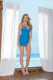 Details About Sexy Ocean Blue Criss Cross Back Lace Mesh Chemise By Escante Lingerie 36338