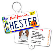 Personalized Plate California Design License Pooch Tags Cute 1 Dog