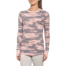 Cuddl Duds Stretch Thermal Crew Neck Shirt Long Sleeve For Women