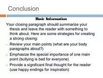paragraph essay on bullying persuasive essay ppt video online how to write a good conclusion paragraph essay popular how to write a 5 paragraph essay