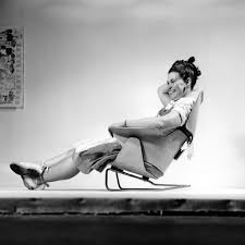 charles ray furniture. Ray Eames Sitting On An Experimental Lounge Chair, 1946 © Office LLC Charles Furniture T