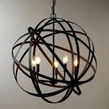 world market metal orb chandelier picture concept