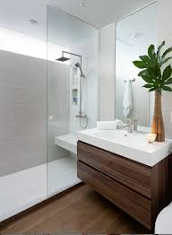 Contemporary Wood Tile In Bathroom Throughout Bathroom