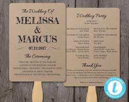 Wedding Program Designs Rustic Wedding Program Fan Template Fan Wedding Program Template