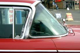 Vintage auto safety glass trim