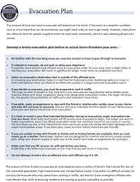 evacuation information emergency management agency evacuation plan